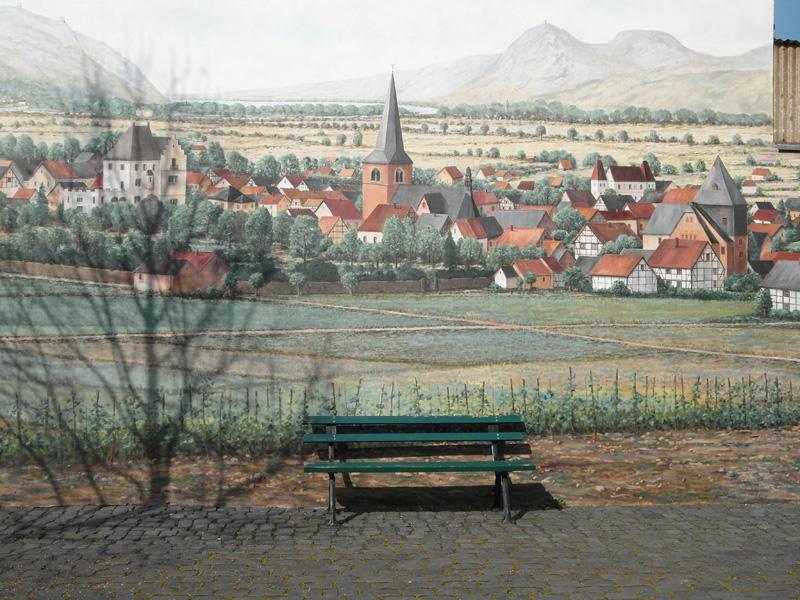 Historische Ortsansicht von Rheinbreitbach